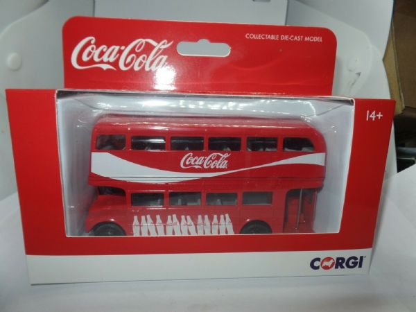 CORGI GS82332 1/64 Scale LONDON ROUTEMASTER BUS Coca Cola MIMB